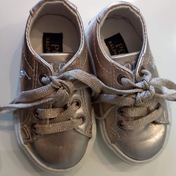 dcb3592b Polo RalphLauren Infant Girls Sneakers, size 4